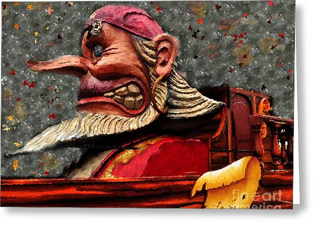 Famous Pirate Greeting Cards - Gasparilla Float Greeting Card by David Lee Thompson