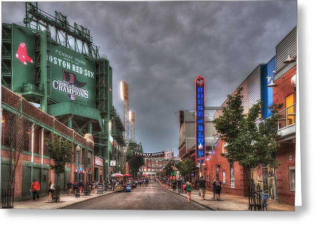 Gate E - Fenway Park Boston Greeting Card by Joann Vitali