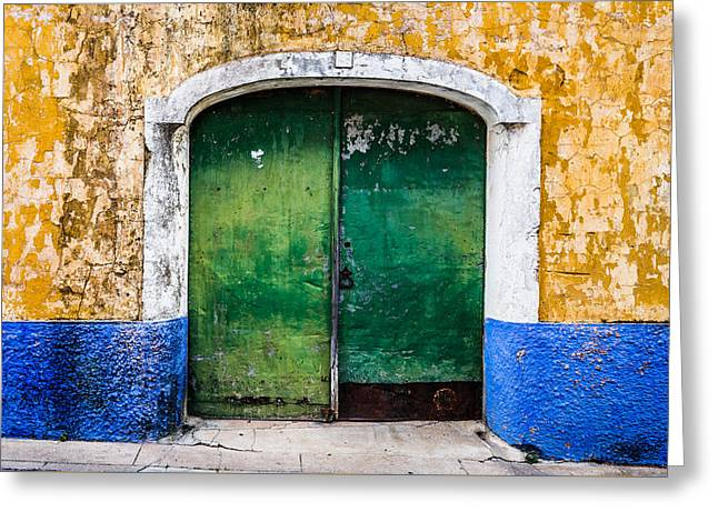 Old Door Greeting Cards - Gate No 48 Greeting Card by Marco Oliveira