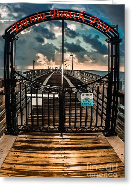 Sea View Greeting Cards - Gate To Fishing Heaven Greeting Card by Gary Keesler
