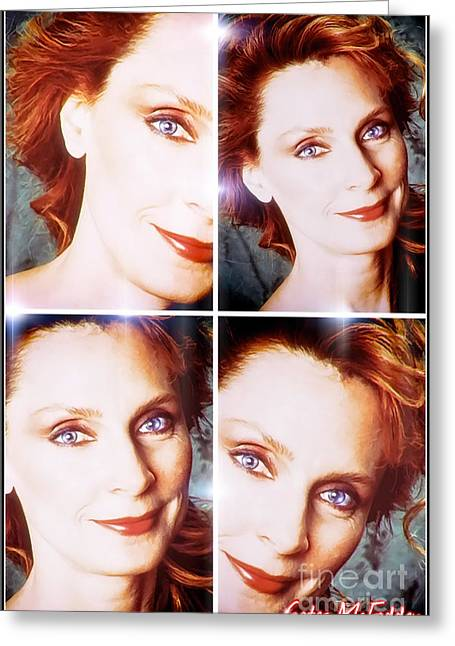Mcfaddens Greeting Cards - Gates McFadden Dedication Greeting Card by Robert Radmore