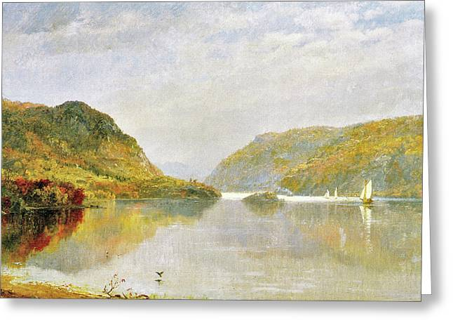 Gates Of The Hudson Greeting Card by Jasper Cropsey