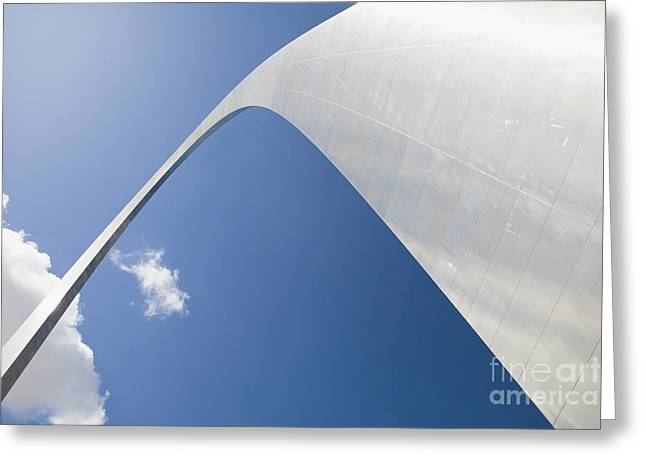 Height Greeting Cards - Gateway Arch Greeting Card by Bryan Mullennix
