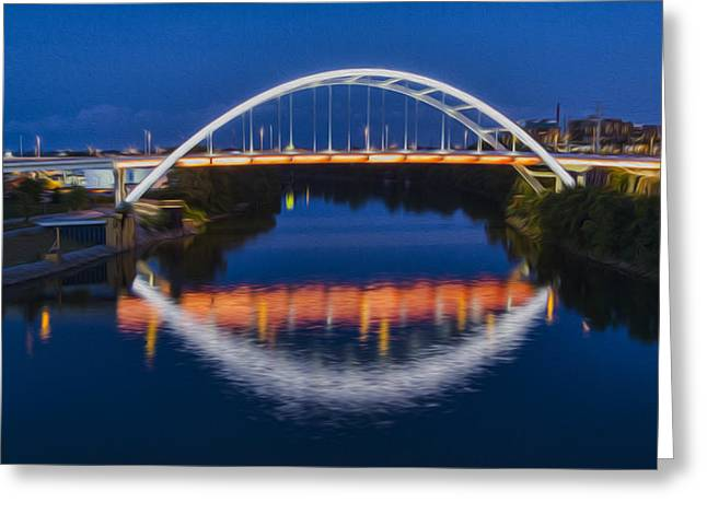 Nashville Tennessee Greeting Cards - Gateway Bridge - Nashville Greeting Card by Stephen Stookey
