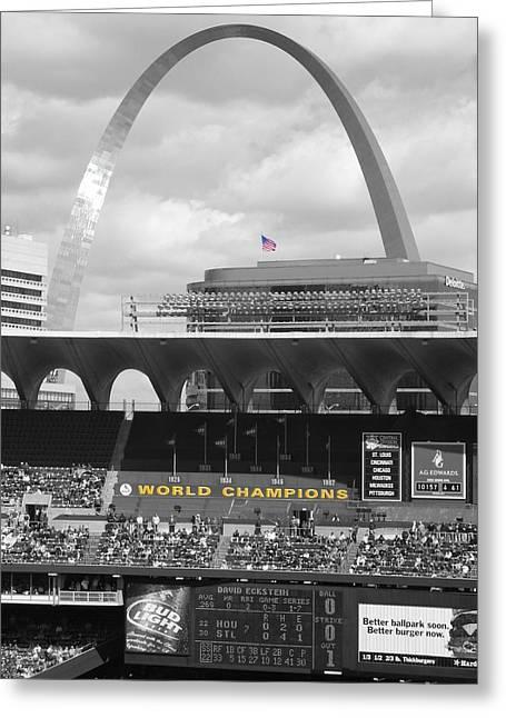 Busch Stadium Greeting Cards - Gateway Greeting Card by Dylan Punke