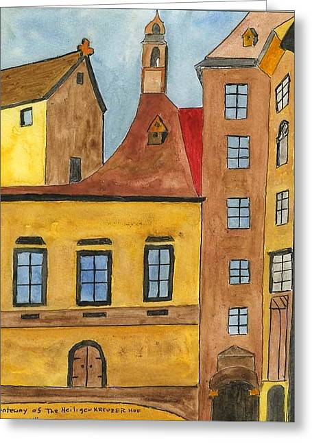 Gateway Church Greeting Cards - Gateway of Heiligenkreuserhof Greeting Card by Robert Wittig