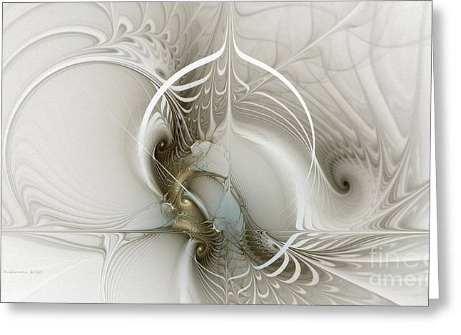 Large Sized Greeting Cards - Gateway to Heaven-Fractal Art Greeting Card by Karin Kuhlmann