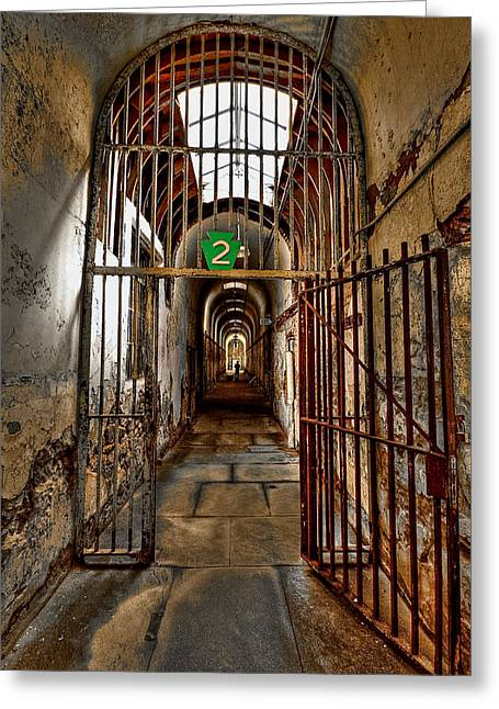 Penitentiary Greeting Cards - Gateway to Hell Greeting Card by Evelina Kremsdorf