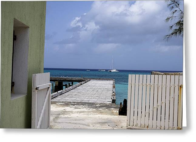 Docked Sailboats Greeting Cards - Gateway to Paradise Greeting Card by Daniel Hart