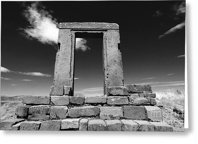 Monolith Greeting Cards - Gateway to the Past Greeting Card by James Brunker