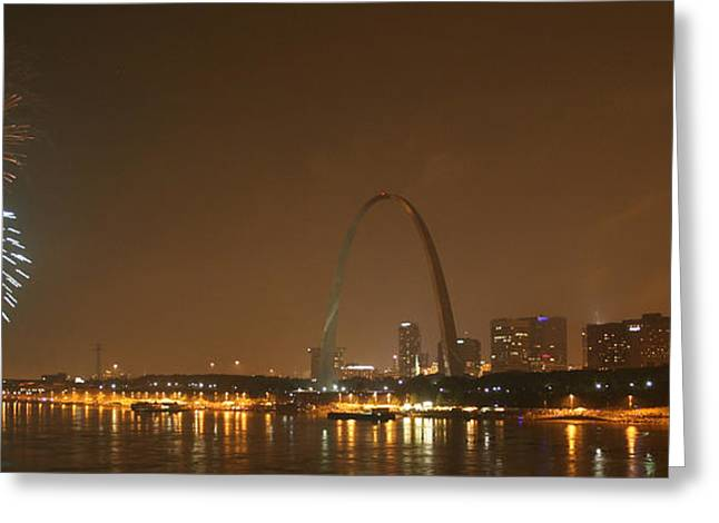 Missouri River Greeting Cards - Gateway to the West  Greeting Card by Chuck Wedemeier