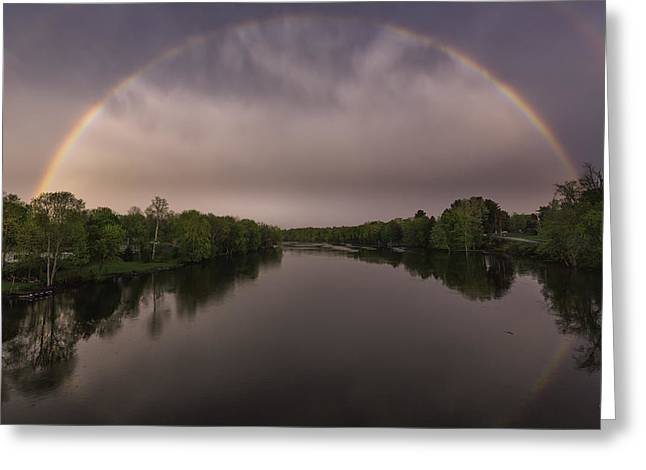 Double Rainbow Greeting Cards - Gateway To Tomorrow Greeting Card by Everet Regal