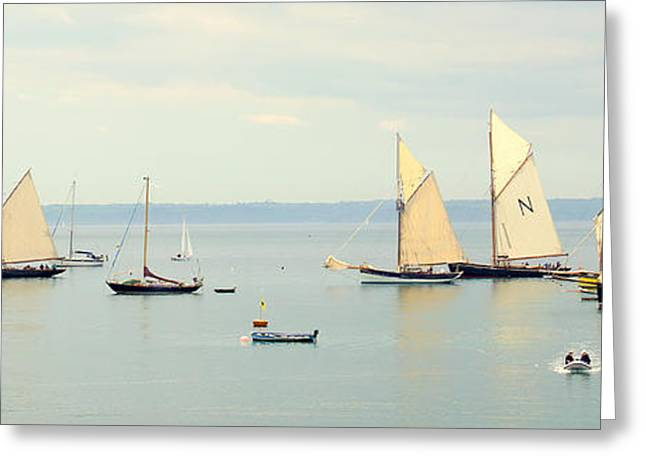 Schooner Greeting Cards - Gathering Of The Pilot Boats Greeting Card by Peter Hunt
