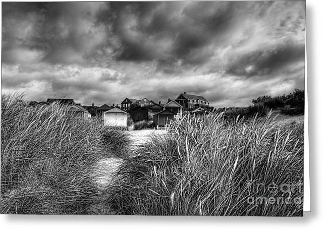 Thunderstorm Greeting Cards - Gathering storm Old Hunstanton Norfolk Greeting Card by John Edwards