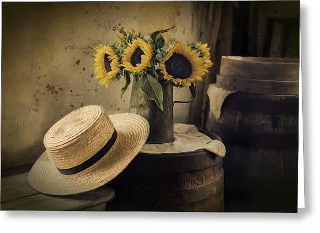 Gathering Sunshine Greeting Card by Robin-lee Vieira