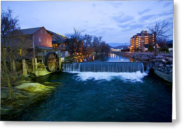 Tennessee River Greeting Cards - Gatlinburg Mill Greeting Card by Paul Bartoszek
