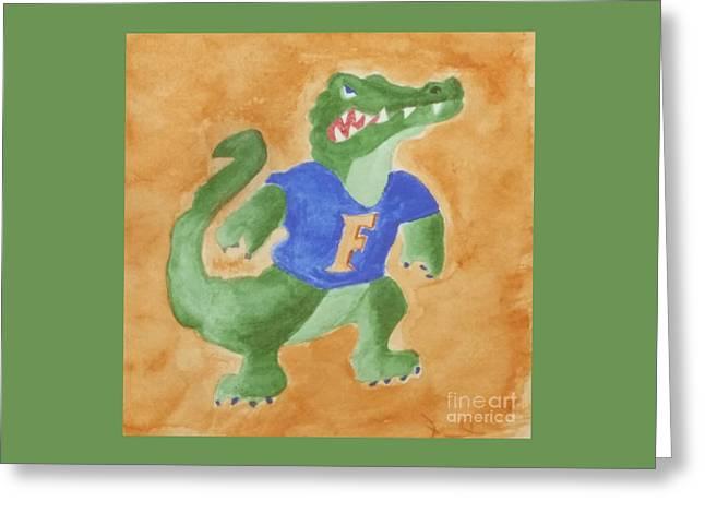 Florida Gators Mixed Media Greeting Cards - Gator Nation Greeting Card by DJ Fessenden