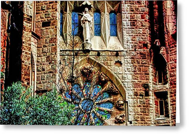 Gaudi Barcelona Greeting Card by Tom Prendergast