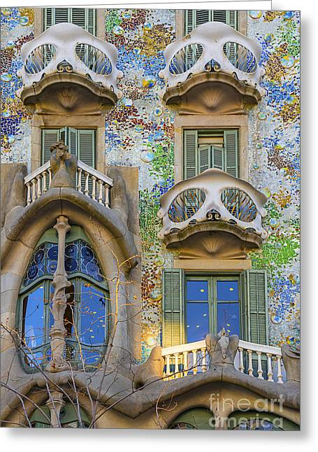 Concrete Sculpture Greeting Cards - Gaudi close up Greeting Card by Svetlana Sewell