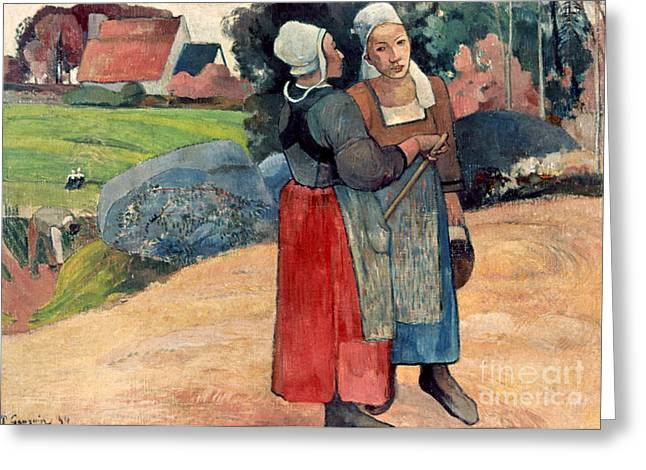 Gauguin: Breton Women, 1894 Greeting Card by Granger