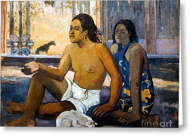 Smoker Greeting Cards - Gauguin:tahiti Women Greeting Card by Granger