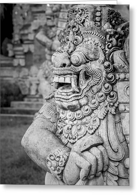 Garden Statuary Greeting Cards - Gaurdian of the gardens Greeting Card by Andy Crawford