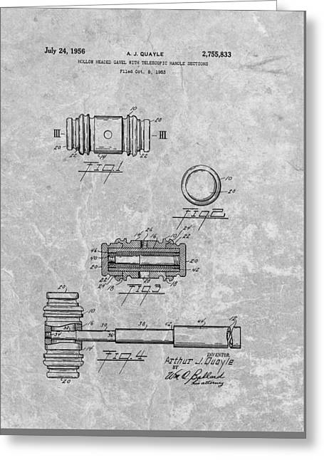 Gavel Patent Greeting Card by Dan Sproul