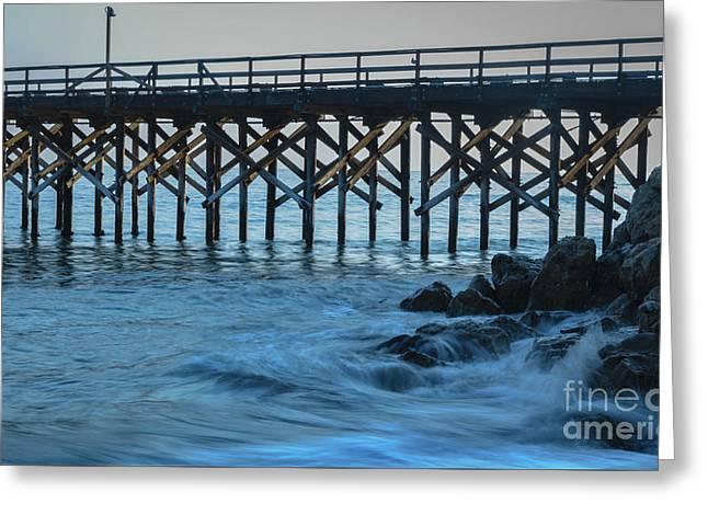 Gaviota State Park Pier Greeting Card by Jeffrey Hubbard