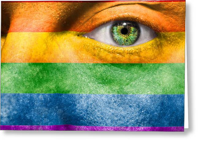 Violet Art Photographs Greeting Cards - Gay Pride Greeting Card by Semmick Photo