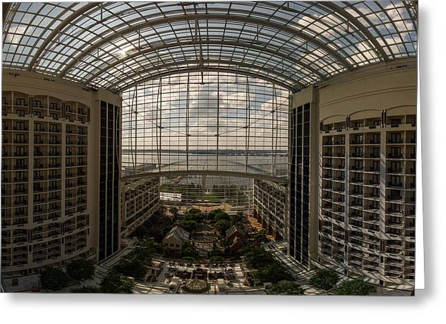Convention Greeting Cards - Gaylord National Resort and Convention Center Greeting Card by Chris Bordeleau
