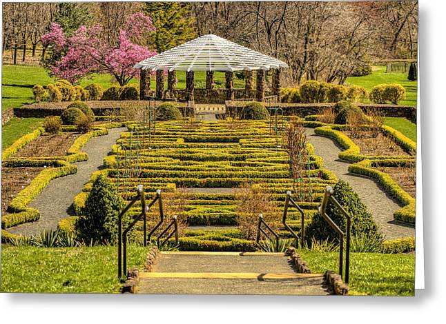 Landscape Posters Greeting Cards - Gazebo at Deep Cut Gardens Greeting Card by Geraldine Scull