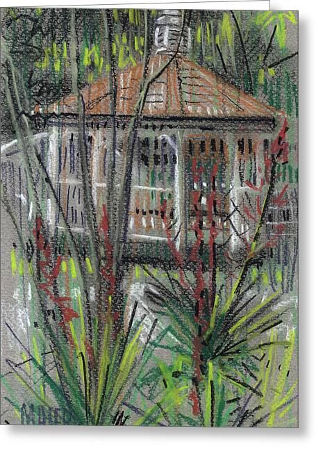 Gardens Pastels Greeting Cards - Gazebo Greeting Card by Donald Maier