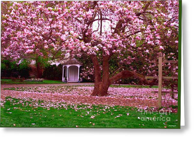 Toms Place Greeting Cards - Gazebo Linden Place Bristol RI Greeting Card by Tom Prendergast