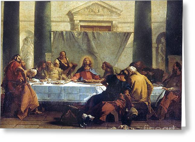G.b. Tiepolo: Last Supper Greeting Card by Granger