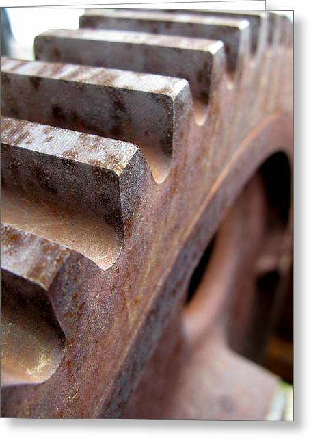 Rust Greeting Cards - Gear Greeting Card by Jeff Ball