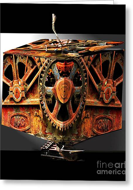 Creative Photography Greeting Cards - Gearbox Greeting Card by Tom Griffithe
