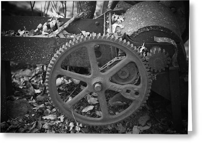 Old Gears Greeting Cards - Geared Up Greeting Card by Frank Wilson