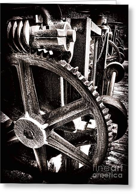 Cog Greeting Cards - Gearology  Greeting Card by Olivier Le Queinec