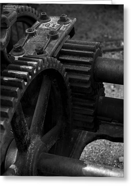 Gears Of The Past 2 Greeting Card by Daniel Hanson