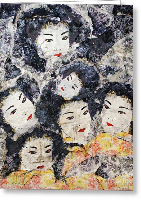 Geisha Greeting Card by Shelley Jones