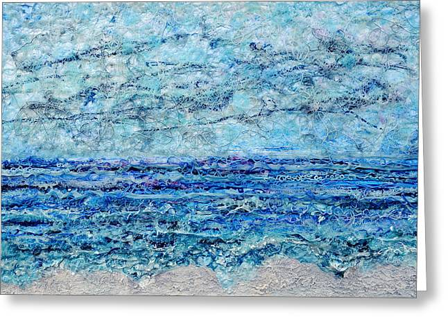Beaches Reliefs Greeting Cards - Gelid Shoreline Greeting Card by Regina Valluzzi