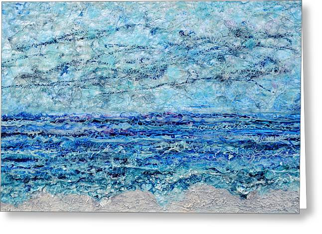 Ocean Shore Reliefs Greeting Cards - Gelid Shoreline Greeting Card by Regina Valluzzi