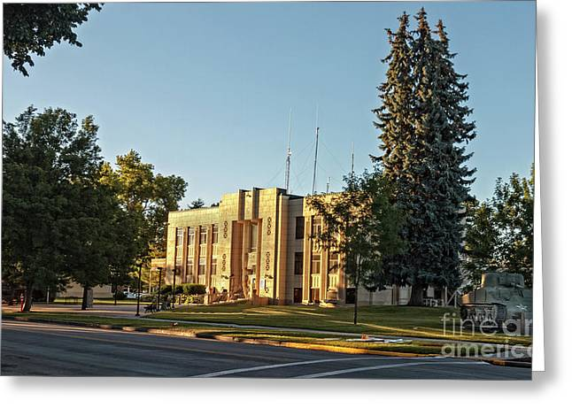 Gem County Courthouse Greeting Card by Robert Bales