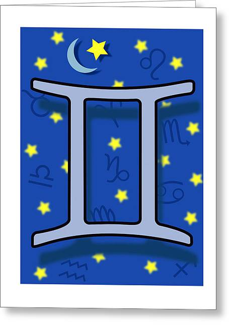 Constellations Greeting Cards - Gemini Greeting Card by David Nicholls