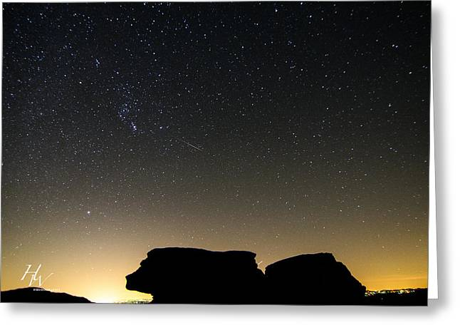 Geminids Greeting Cards - Geminid Meteor Shower From Beacon Heights Greeting Card by Hunter Ward