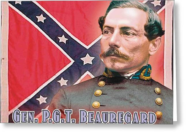 P-g Greeting Cards - Gen. P.G.T. Beauregard Greeting Card by Harry West