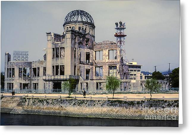 Hiroshima Peace Memorial Greeting Cards - Genbaku Dome Greeting Card by Bob Phillips