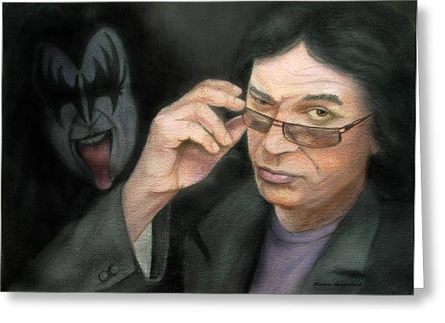 Singer Songwriter Pastels Greeting Cards - Gene Simmons Greeting Card by Mamie Greenfield