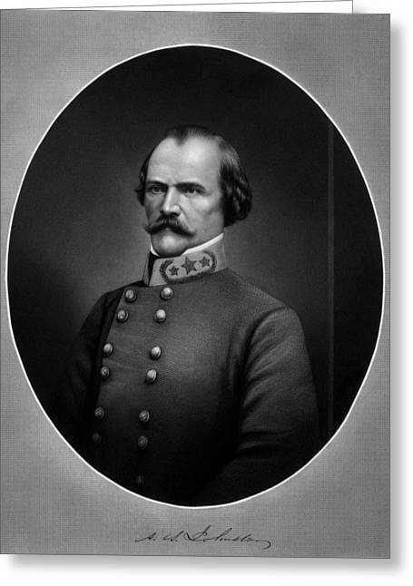 General Albert Sidney Johnston Greeting Card by War Is Hell Store