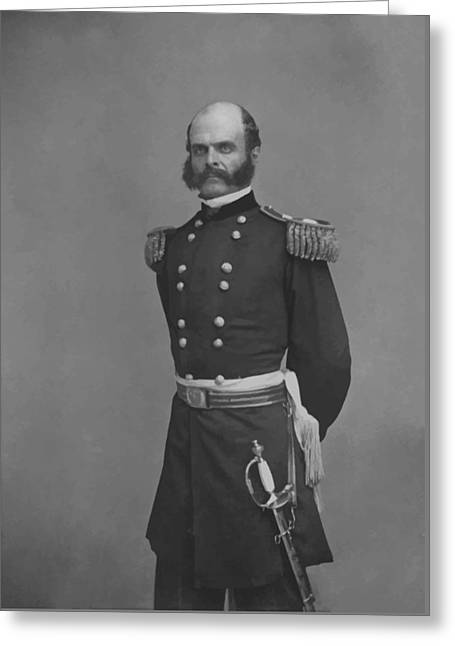 Sideburns Digital Greeting Cards - General Ambrose Everett Burnside Greeting Card by War Is Hell Store